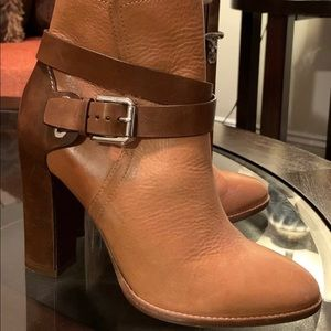 Ralph Lauren 37B Ankle Leather Boot Made in Italy